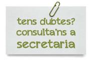 Consulta'ns a secretaria